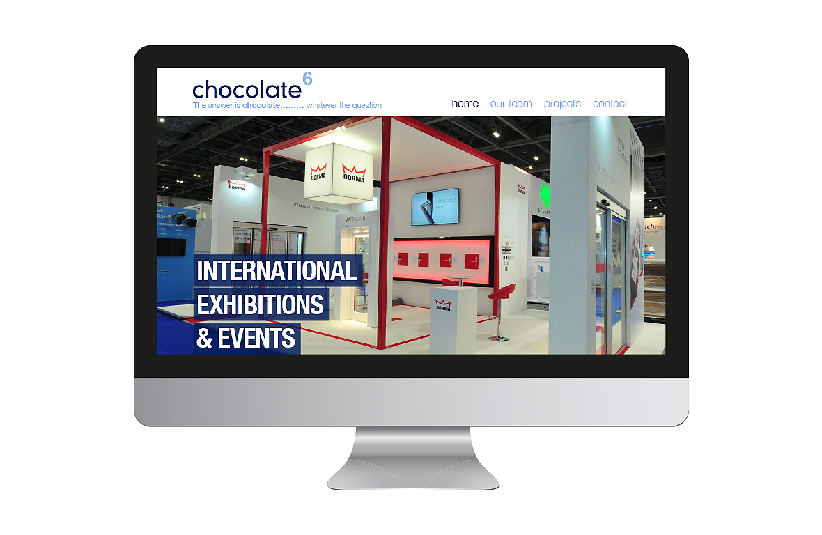 Chocolate6 website design